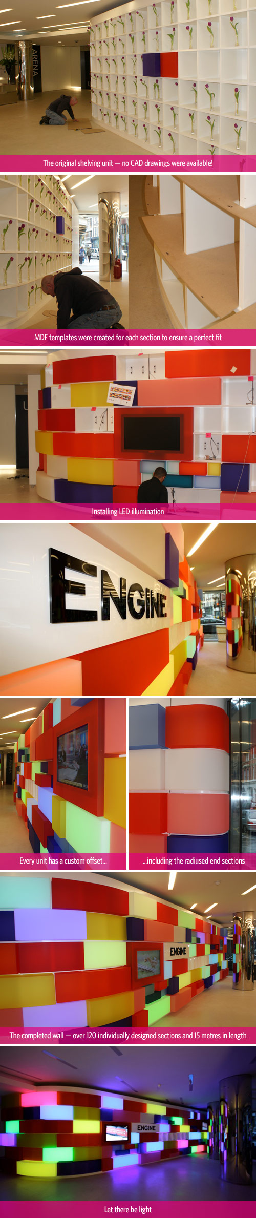 Engine Feature Wall