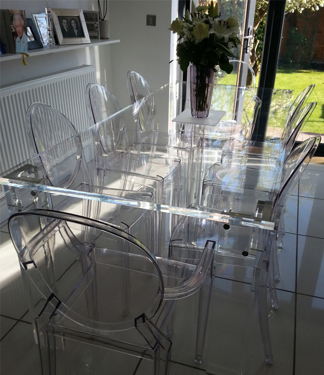 Clear Furniture With Perspex Dining Table Fabrication And Acrylic Furniture